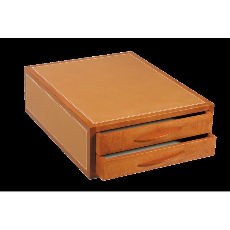 Petit meuble 2 tiroirs courrier